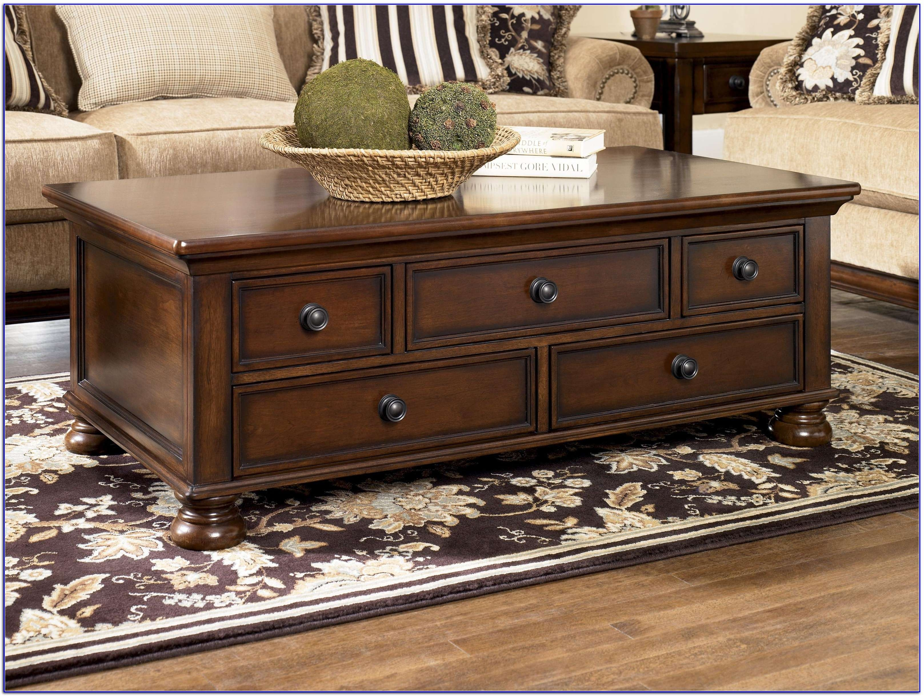Trendy Square Coffee Tables With Storage Cubes With Coffee Tables : Dark Wood Coffee Table Black Coffee Table' Rustic (View 11 of 20)