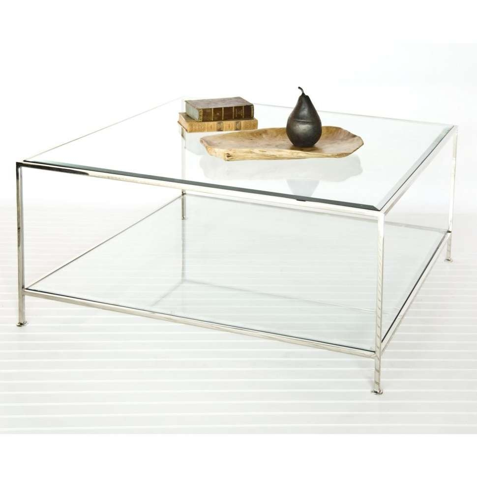 Trendy Square Glass Coffee Tables For Coffee Tables : Large Round Coffee Table White Square Glass And (View 17 of 20)