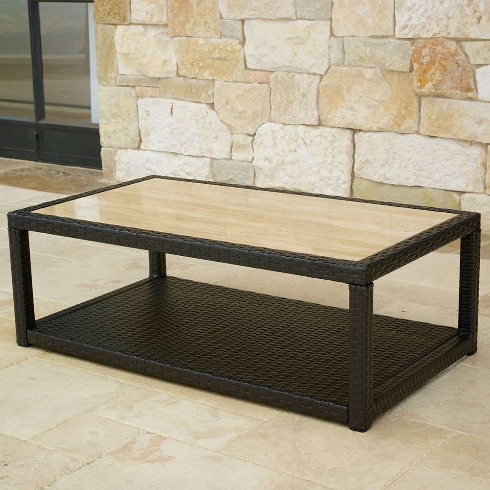 Trendy Stone And Glass Coffee Tables Inside Coffee Tables Decor : Stone Top Coffee Table Wall Outdoor Rattan (View 18 of 20)