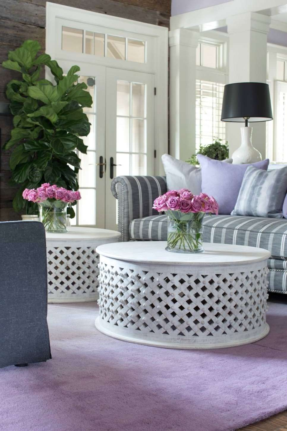 Trendy White Circle Coffee Tables With Regard To 23+ Round Coffee Table Designs, Ideas, Plans (View 20 of 20)