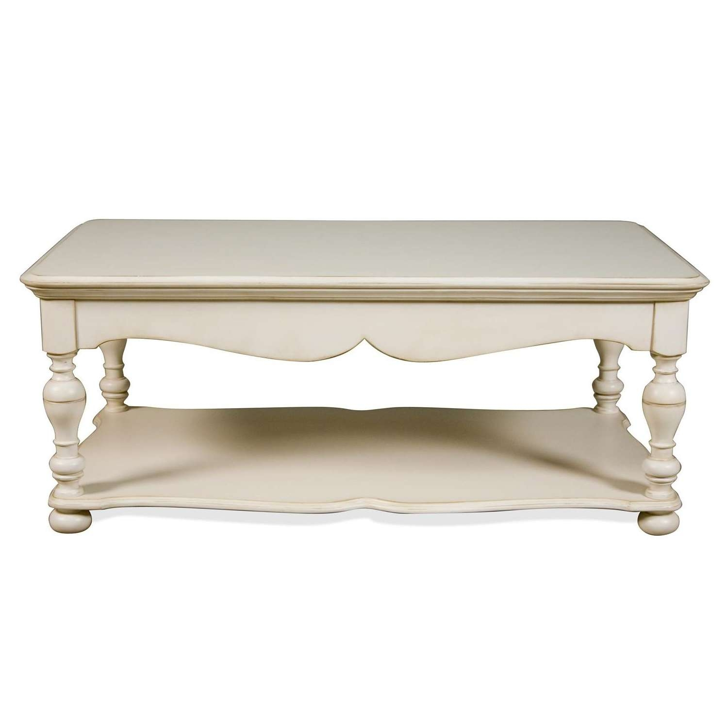 Trendy White Cottage Style Coffee Tables Regarding Coffee Tables : Riverside Placid Cove W Rectangle Cocktail Tab (View 16 of 20)