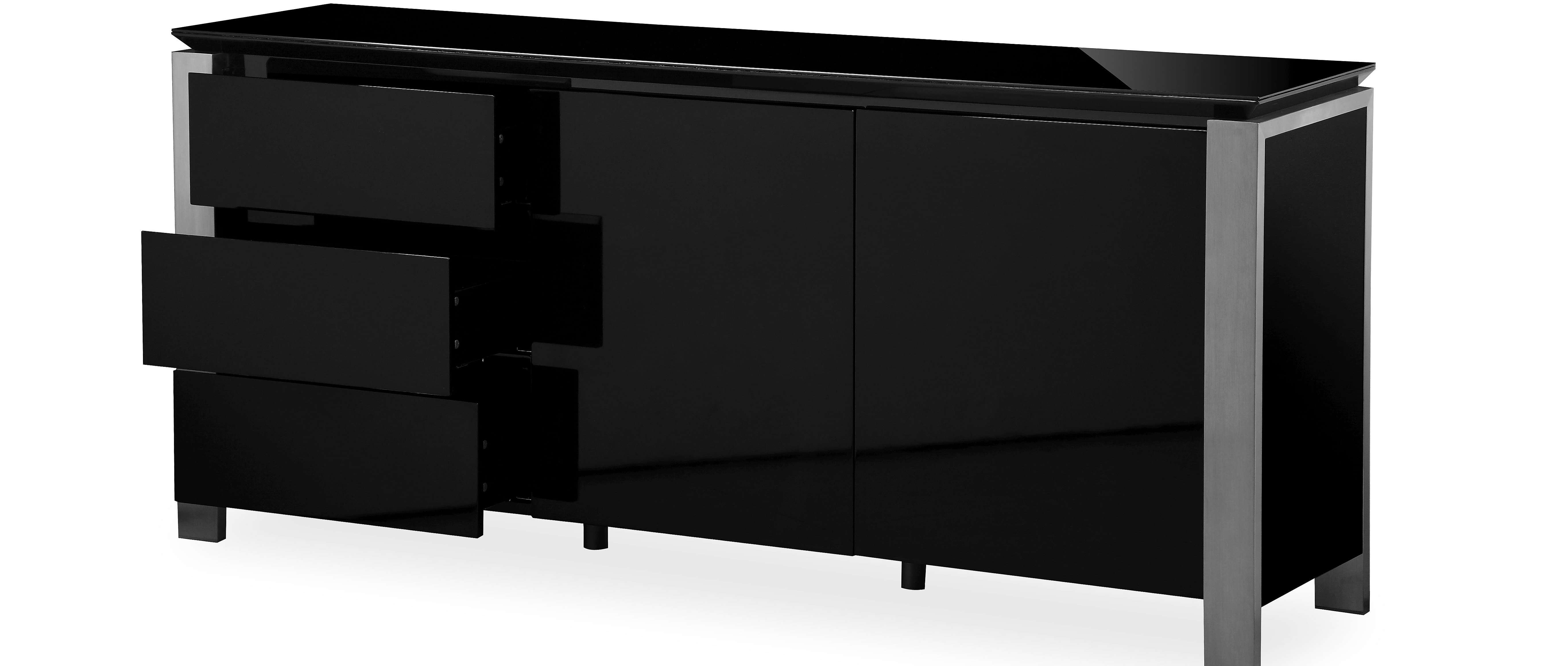 Tribeca – Extra Large Sideboard – Black High Gloss Inside Extra Deep Sideboards (View 18 of 20)