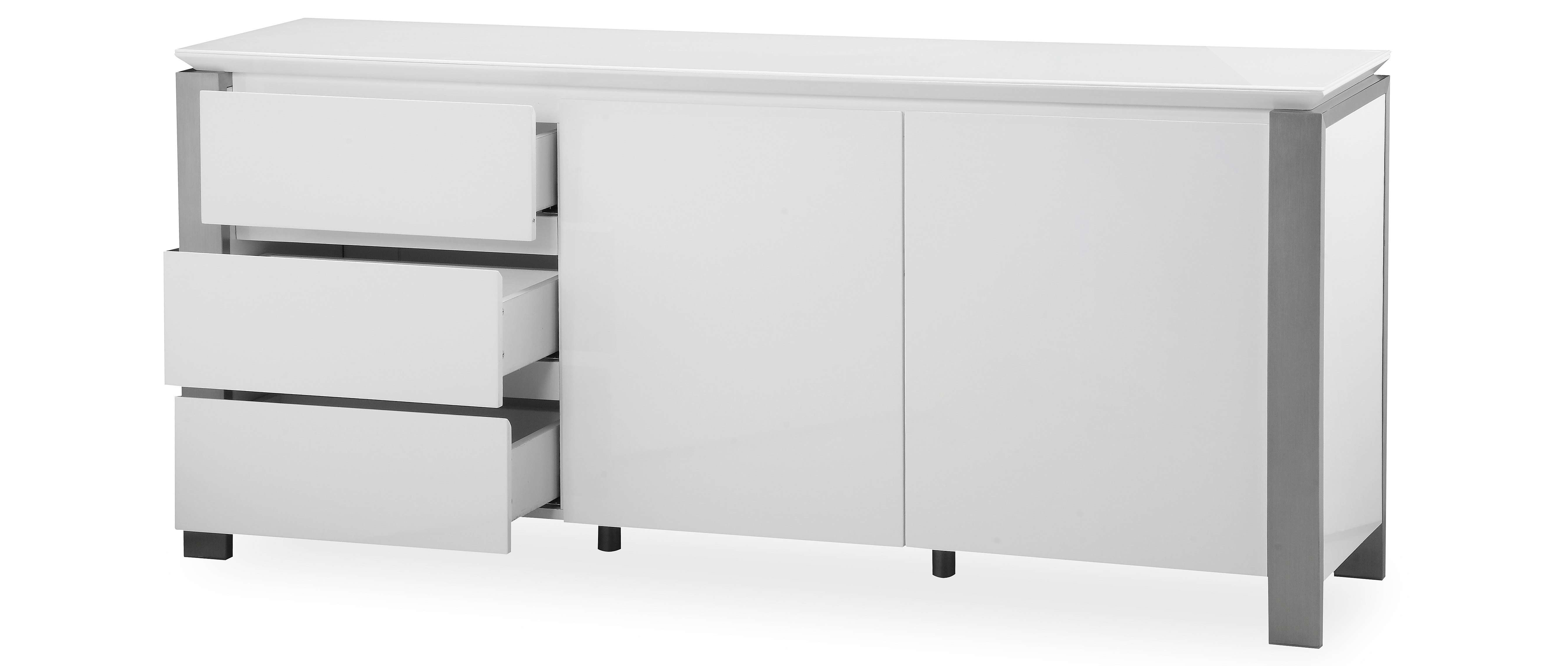 Tribeca – Extra Large Sideboard – White High Gloss In High Gloss Grey Sideboards (View 19 of 20)