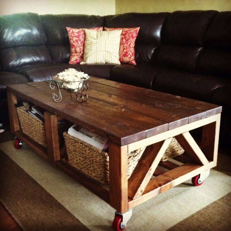 Triple Truss Coffee Table With Wheels – Diy Projects Regarding Popular Coffee Tables With Wheels (View 15 of 20)