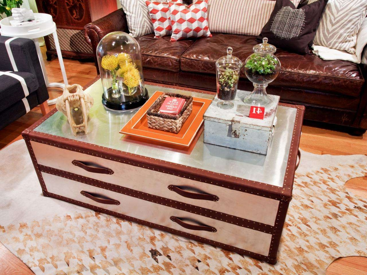 Trunk Coffee Tables In Wonderful Looks! — Home Design Ideas Intended For Fashionable Steamer Trunk Stainless Steel Coffee Tables (View 2 of 20)
