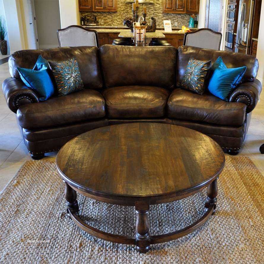 Tuscan Style Living Room Furniture Coffee Tables With Regard To Best And Newest Dark Wood Round Coffee Tables (View 13 of 20)