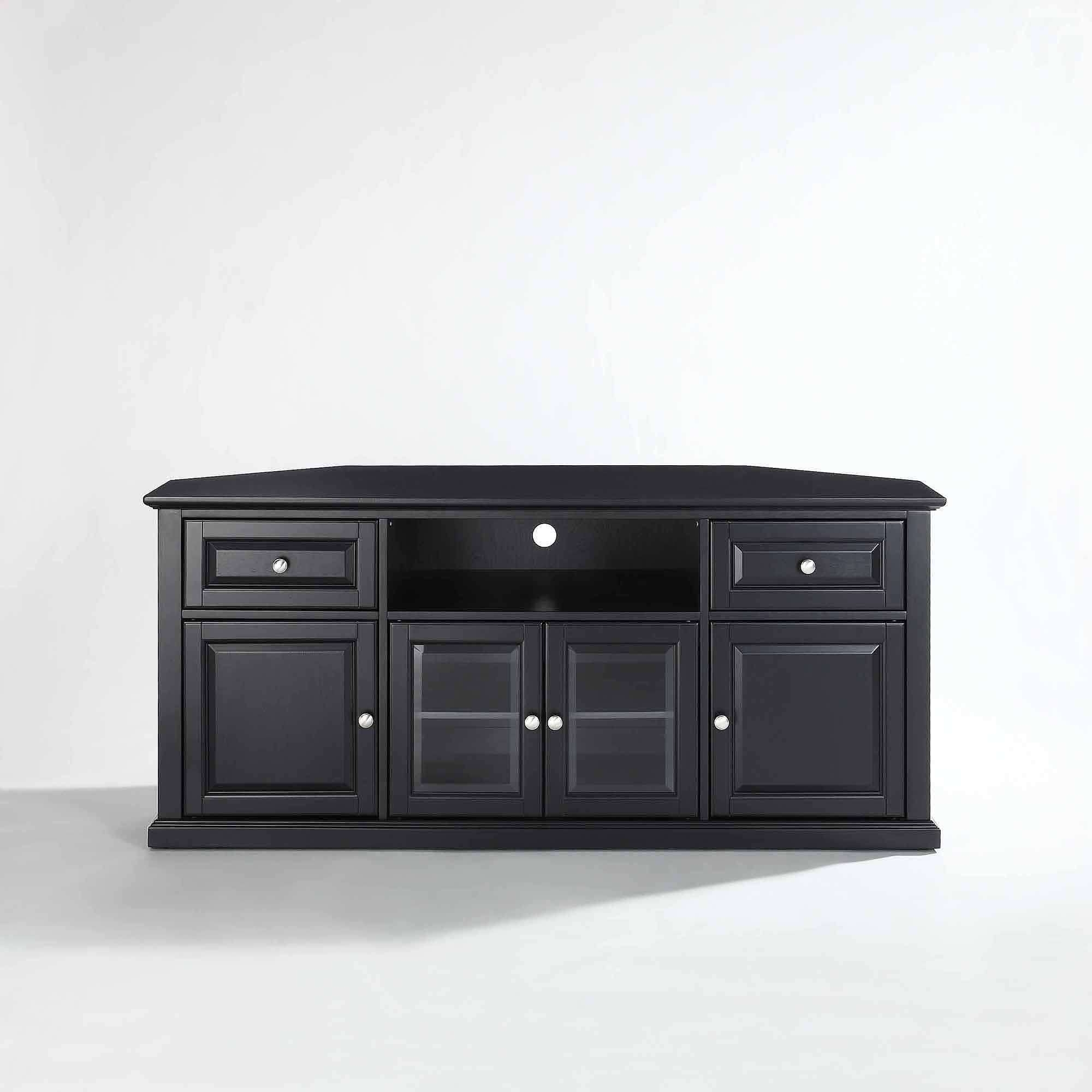 Tv : Awesome Corner 55 Inch Tv Stands Bush Visions Black Tall With Black Corner Tv Cabinets (View 13 of 20)