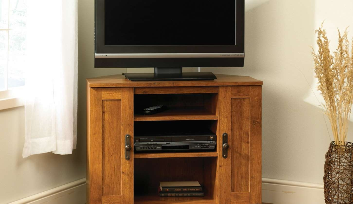 Tv : Breathtaking Corner Oak Tv Cabinets For Flat Screens With Throughout Oak Tv Cabinets For Flat Screens With Doors (View 11 of 20)