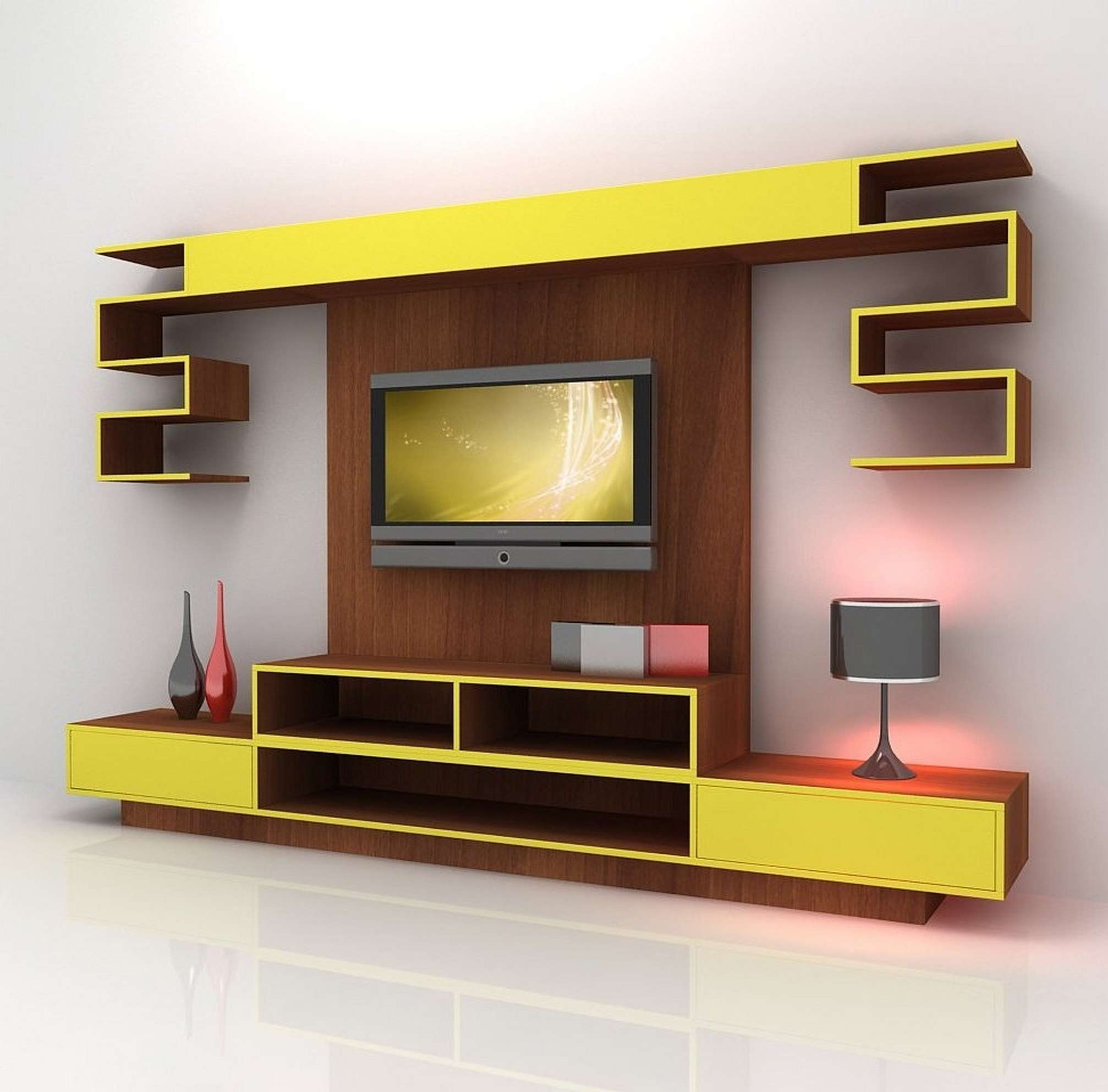 Tv Cabinet Designs For Living Room Home Interior Design Trends For Full Wall Tv Cabinets (View 11 of 20)