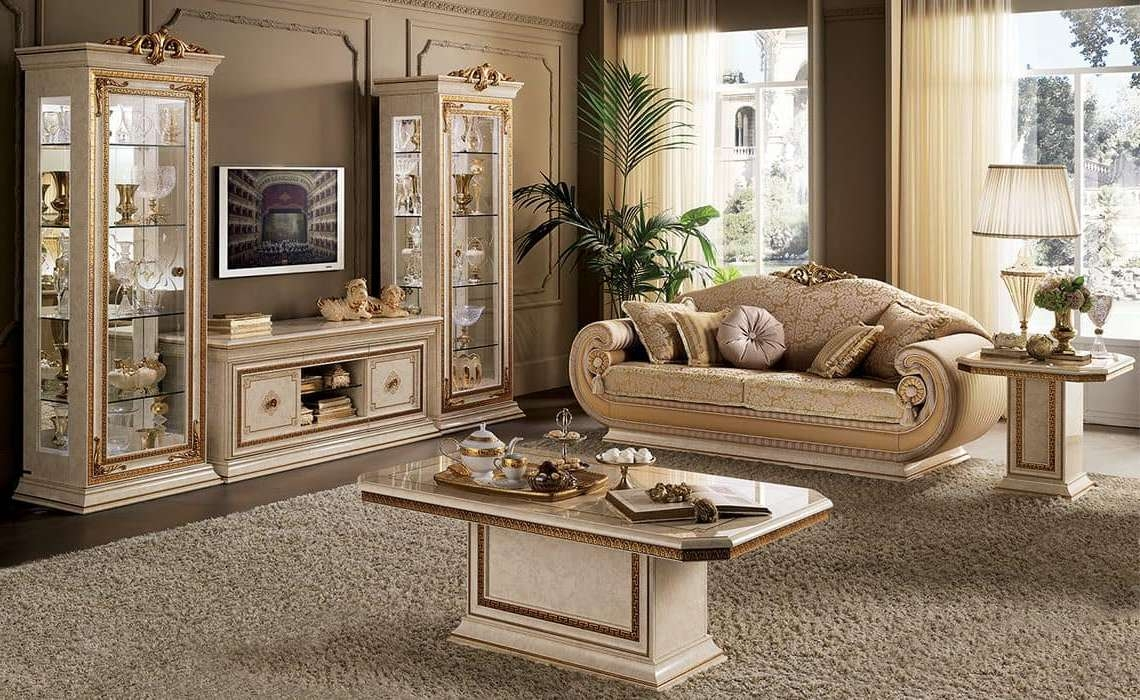 Tv Cabinet For Classic Living Room In Classic Style | Idfdesign For Classic Tv Cabinets (View 11 of 20)