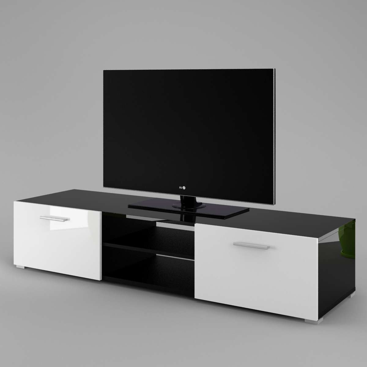 Tv Cabinet Luna – Labi Furniturelabi Furniture In Black Gloss Tv Cabinets (View 13 of 20)