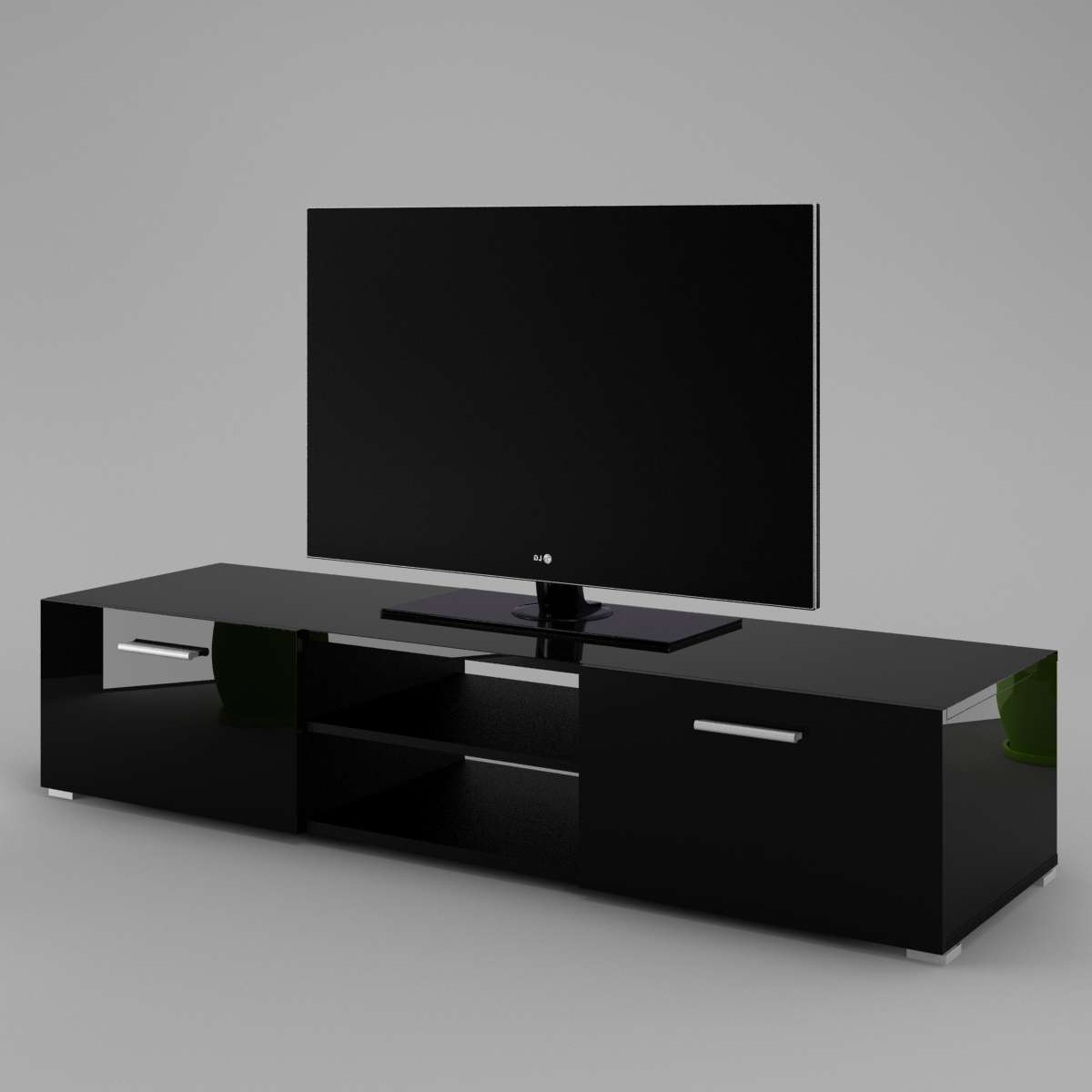 Tv Cabinet Luna – Labi Furniturelabi Furniture Intended For Tv Cabinets Black High Gloss (View 2 of 20)