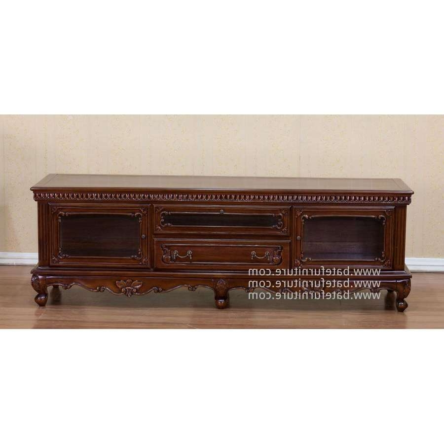 Tv Cabinet Mahogany Carving Pertaining To Mahogany Tv Cabinets (View 9 of 20)