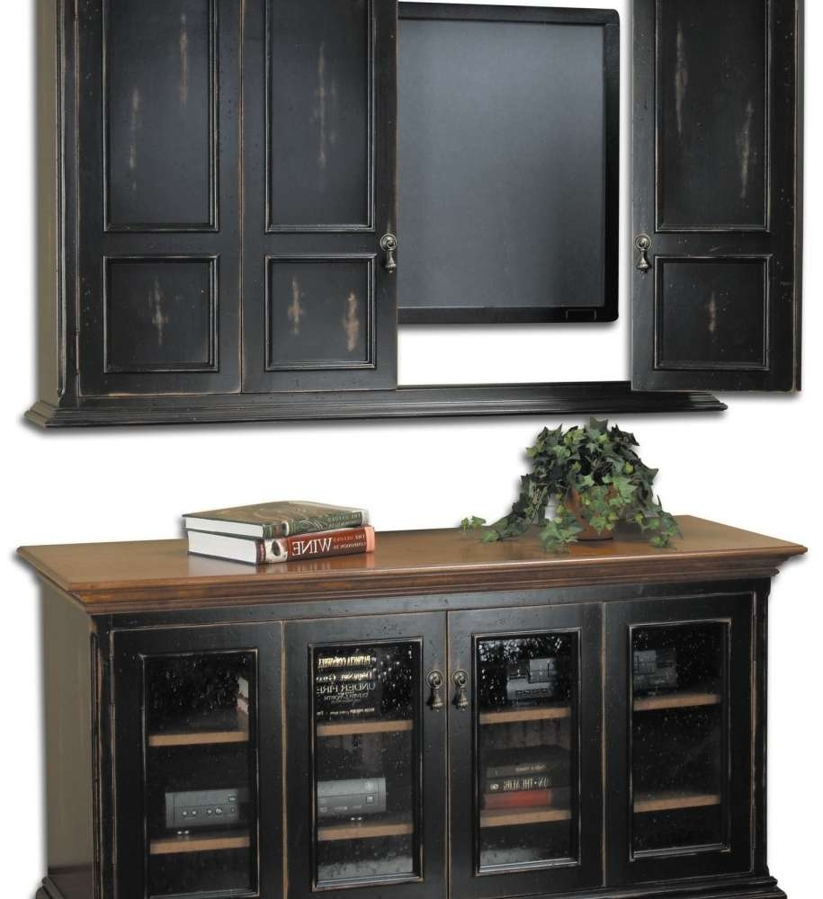 Tv Cabinet With Doors And Drawers In Stylish Flat Interior Brown Intended For Wall Mounted Tv Cabinets With Doors (View 14 of 20)