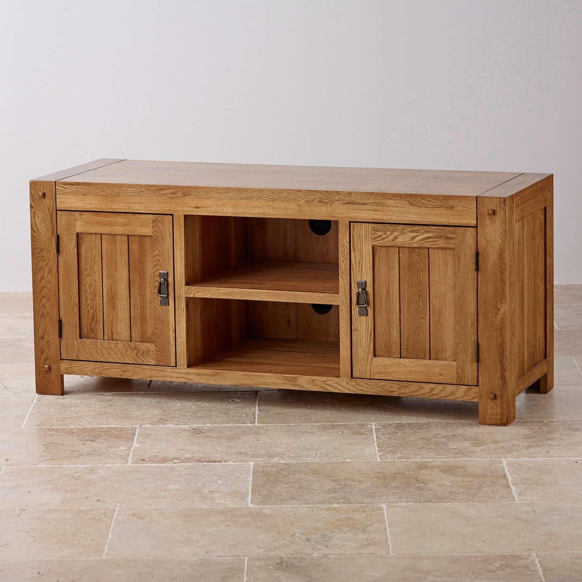 Tv Cabinets | Mango, Painted & Oak Tv Units | Oak Furniture Land With Regard To Mango Wood Tv Cabinets (View 18 of 20)