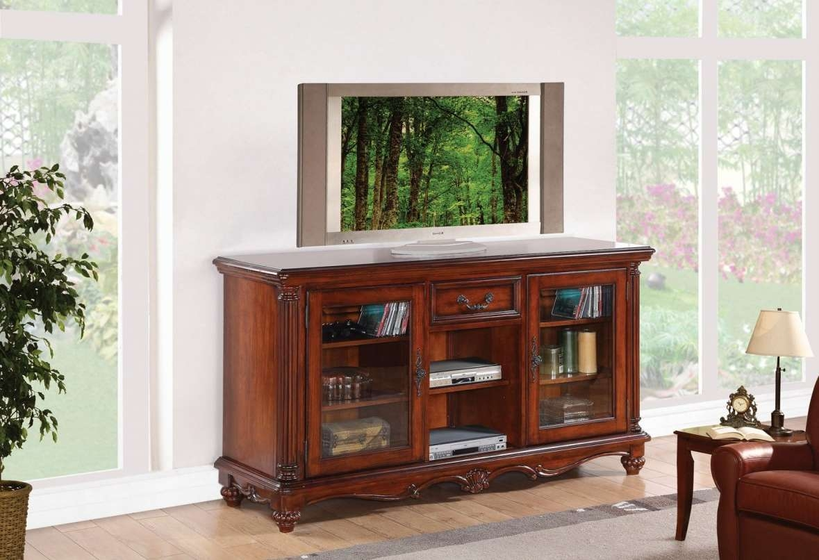 Tv : Intrigue Cherry Oak Tv Cabinet Top Cherry Wood Corner Tv In Cherry Wood Tv Cabinets (View 20 of 20)