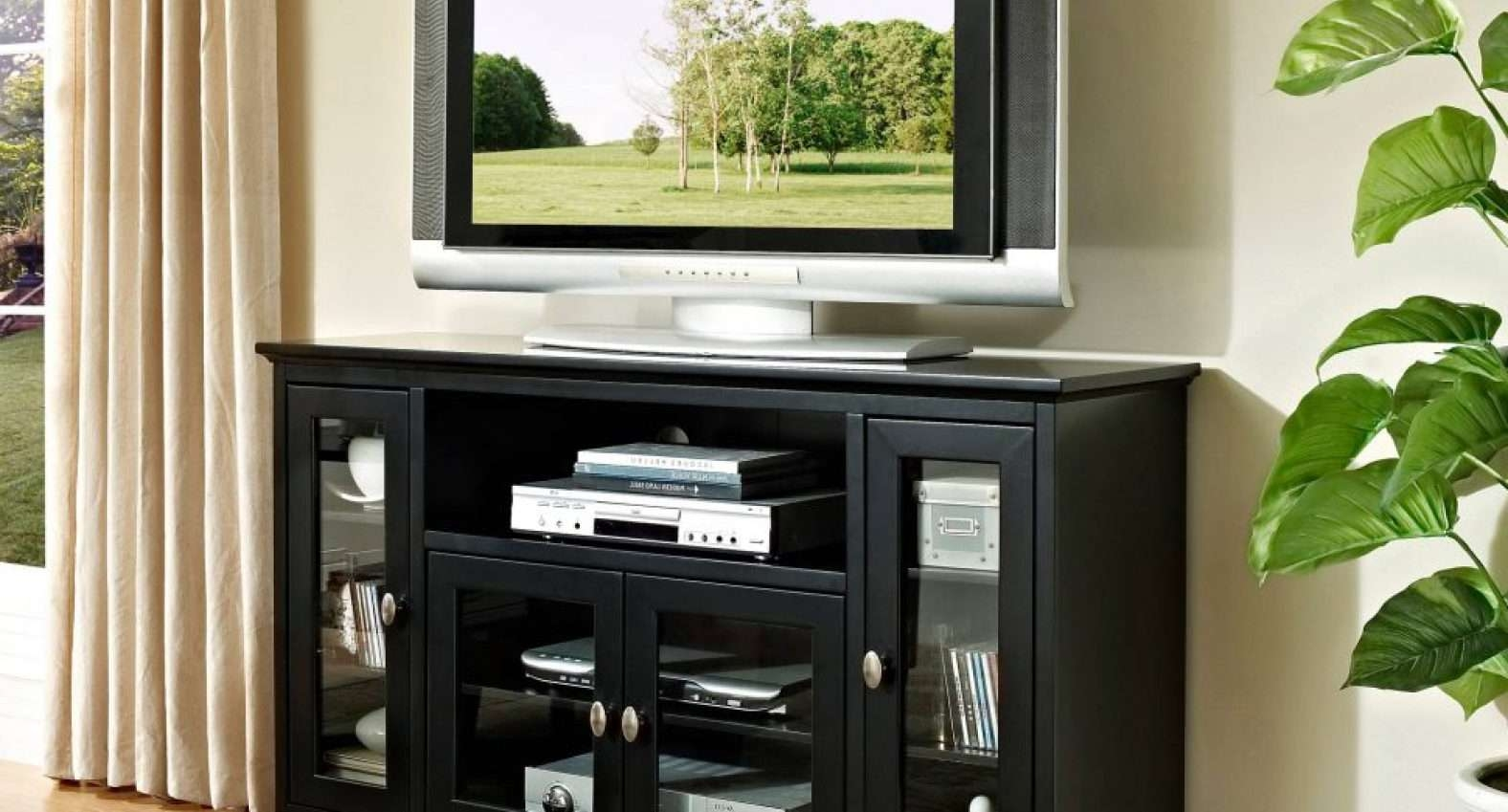 Tv : Remarkable Beam Thru Curved Tv Stand Satiating Black Beam In Beam Thru Tv Cabinets (View 8 of 20)