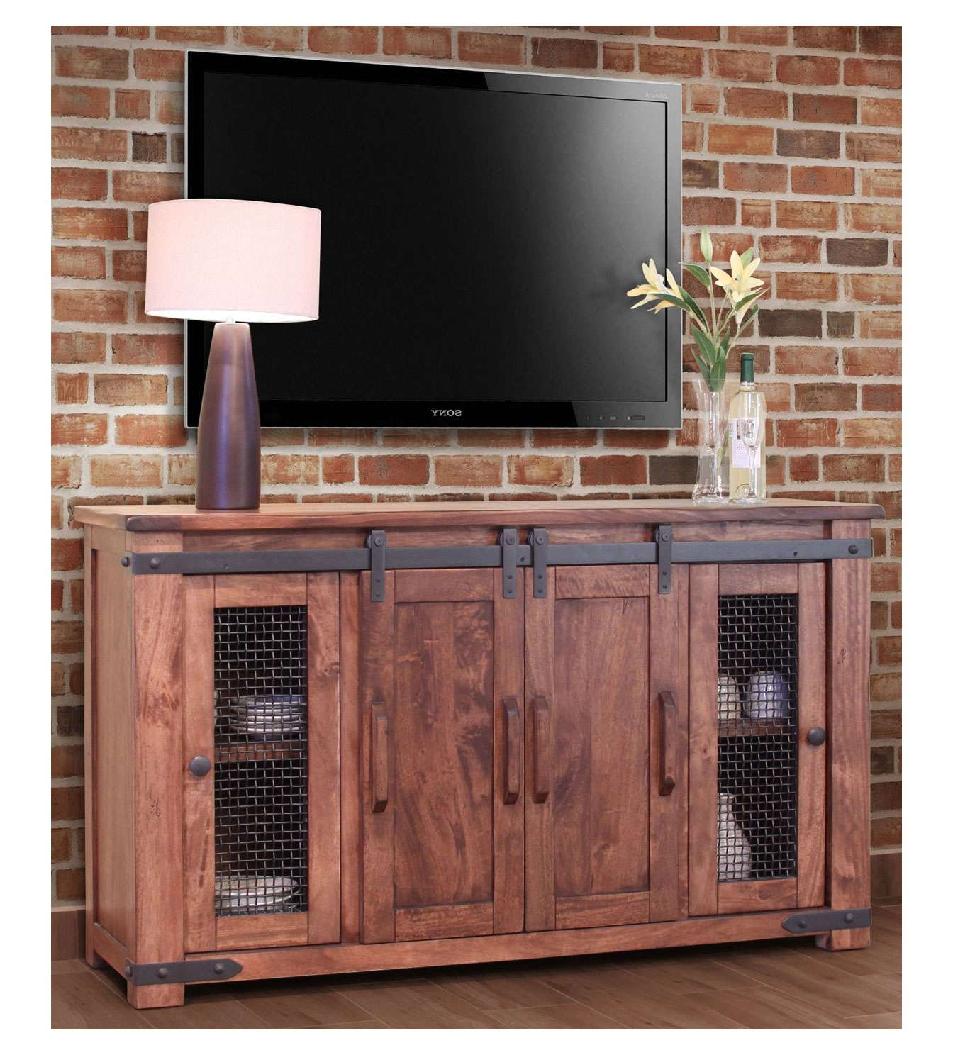 Tv : Rustic Red Tv Stands Delight Rustic Red Tv Stands' Compelling In Red Tv Cabinets (View 10 of 20)