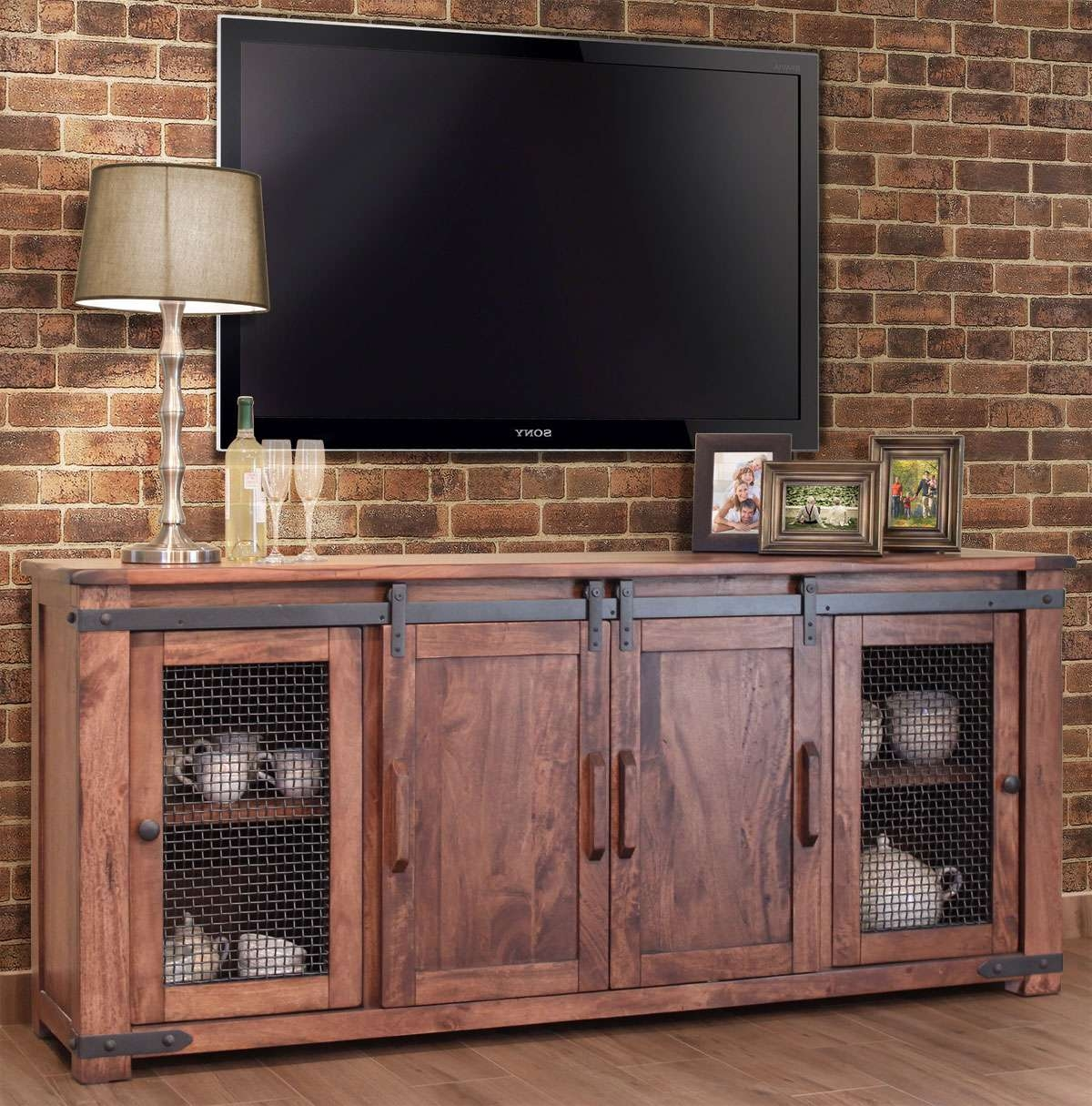 Tv : Rustic Red Tv Stands Delight Rustic Red Tv Stands' Compelling Intended For Red Tv Cabinets (View 17 of 20)