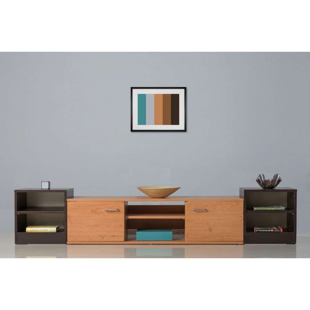 Tv Stand Combo Dd Alder And Wenge In Wenge Tv Cabinets (View 17 of 20)
