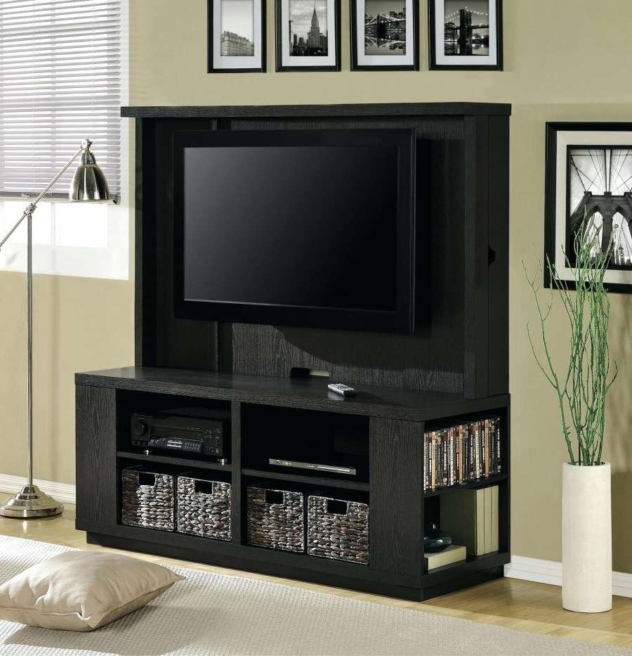 Tv Stand Storage Small Black Wall Mounted With Shelves Plus Woven Regarding Small Black Tv Cabinets (View 17 of 20)
