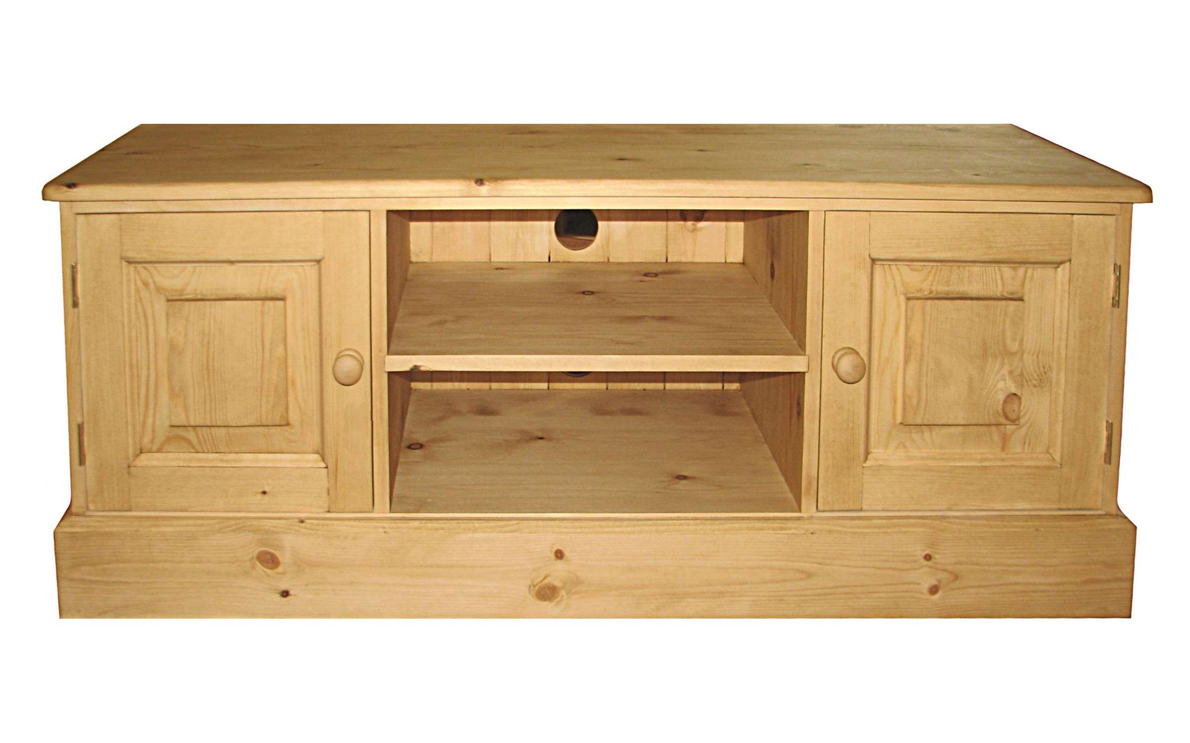 Tv Stands – Kerris Farmhouse Pine With Solid Pine Tv Cabinets (View 4 of 20)