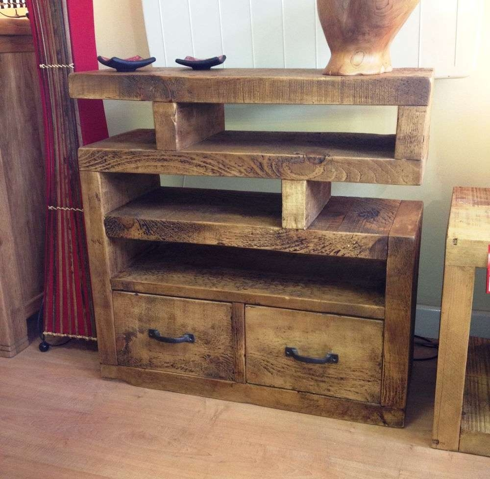 Tv Stands : Oak Tv Units Cabinets Furniture Uk Wooden Corner Solid Inside Chunky Tv Cabinets (View 14 of 20)