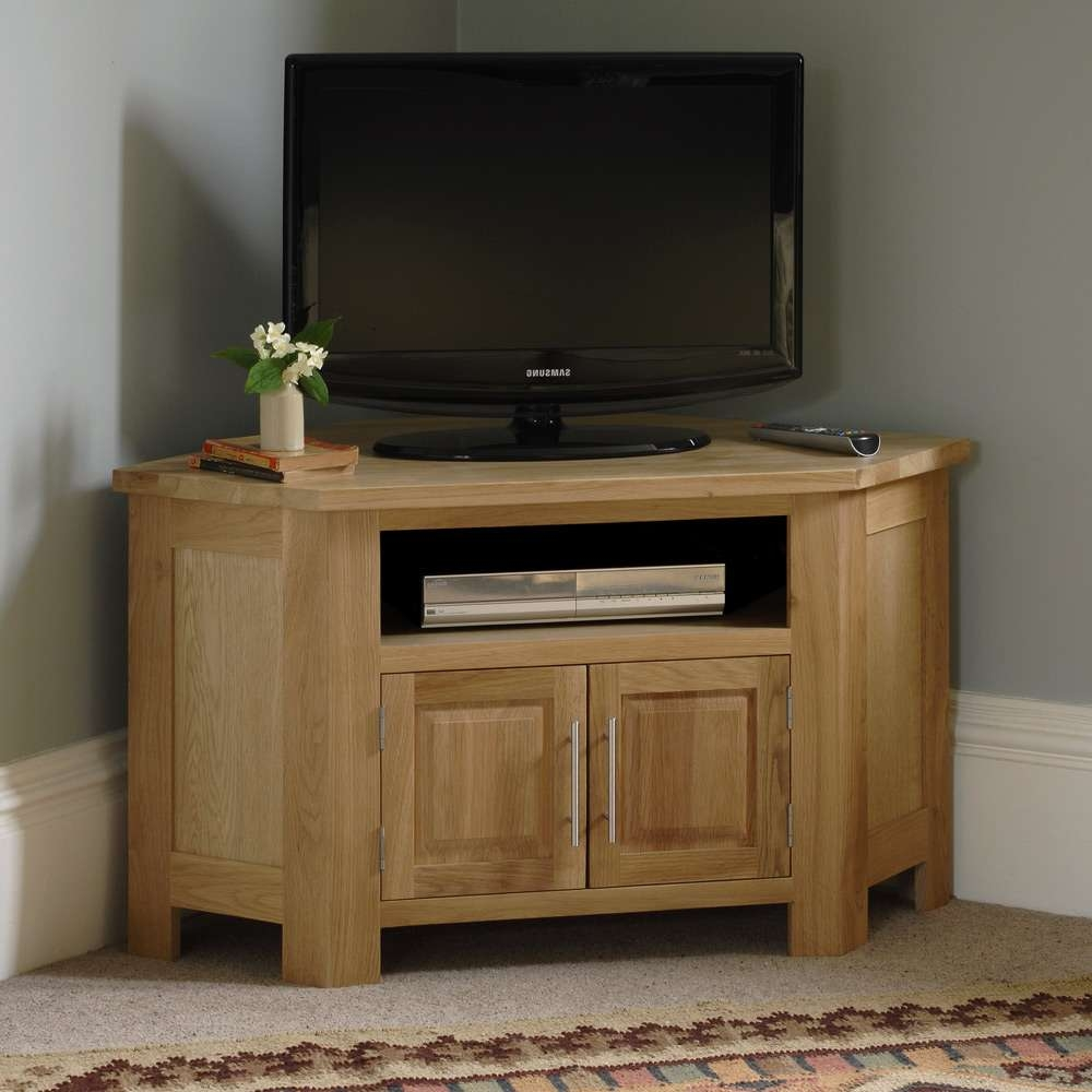 Tv Stands : Oak Tv Units Cabinets Furniture Uk Wooden Corner Solid Pertaining To Oak Tv Cabinets For Flat Screens (View 16 of 20)