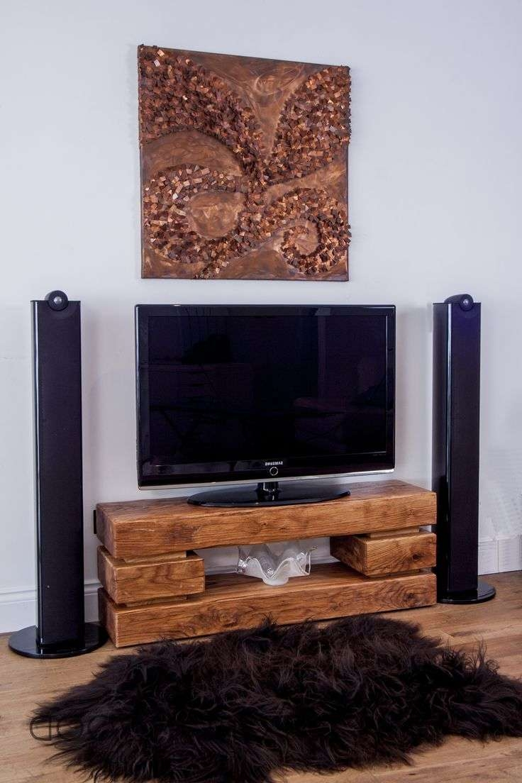 Tv : Trend Solid Chunky Oak Large Tv Dvd Video Stand Stunning Inside Chunky Tv Cabinets (View 16 of 20)