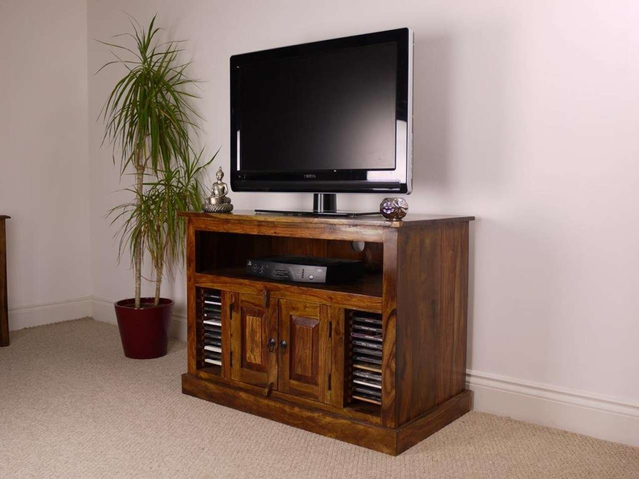 Tv : Trend Solid Chunky Oak Large Tv Dvd Video Stand Stunning Intended For Chunky Tv Cabinets (View 18 of 20)