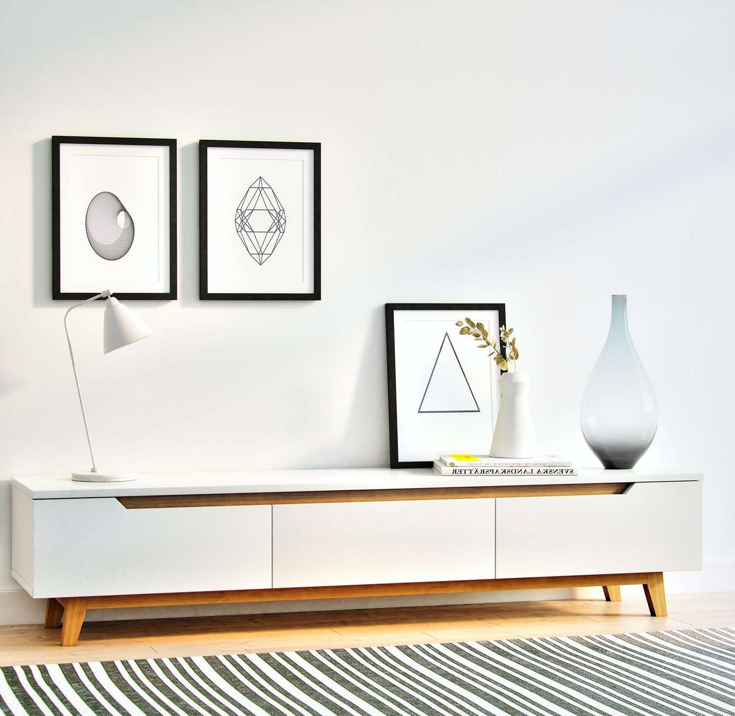 Tv : Two Hole Scandinavian Style White Tv Unit Amazing For Scandinavian Design Tv Cabinets (View 4 of 20)
