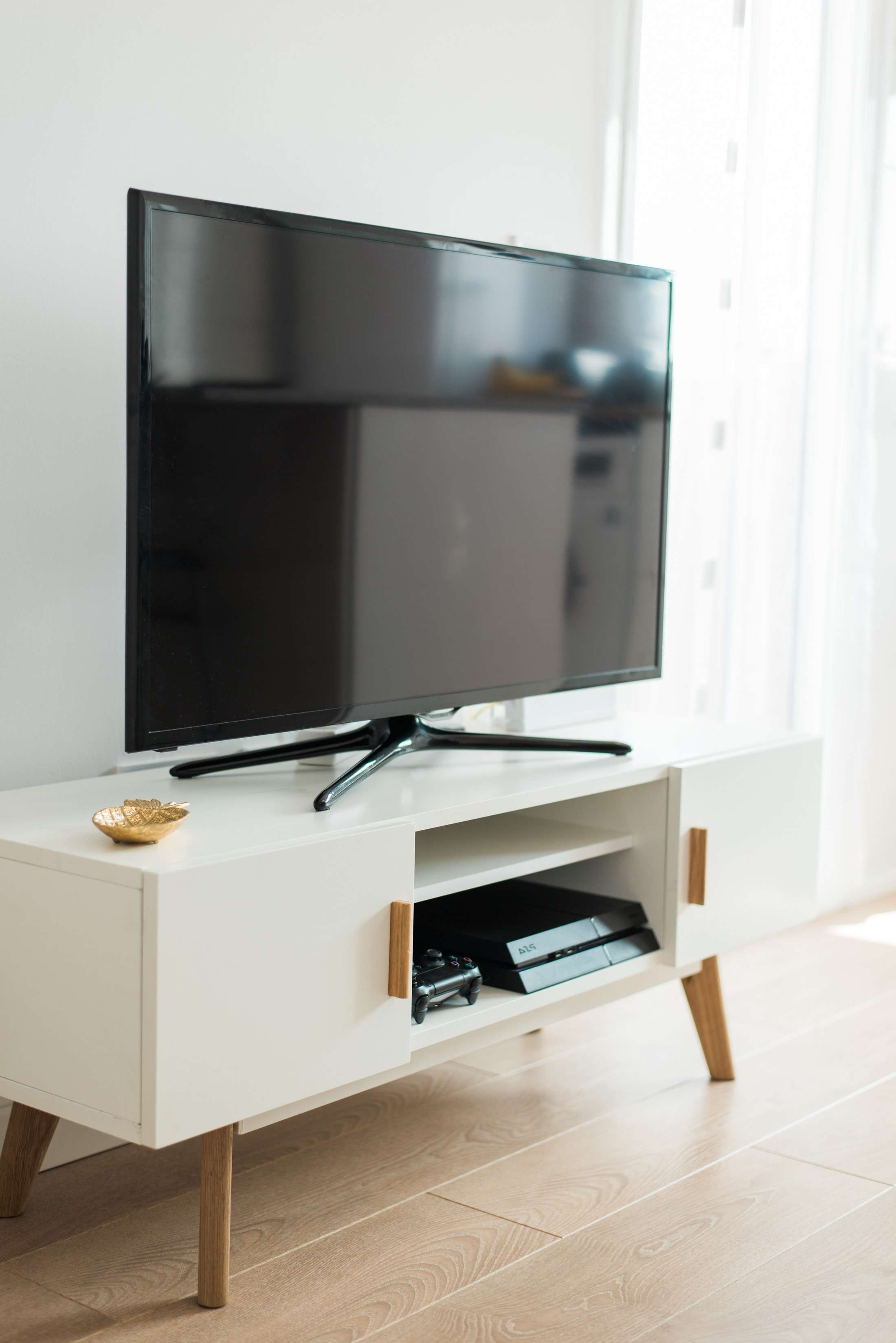 Tv : Two Hole Scandinavian Style White Tv Unit Amazing With Scandinavian Design Tv Cabinets (View 14 of 20)