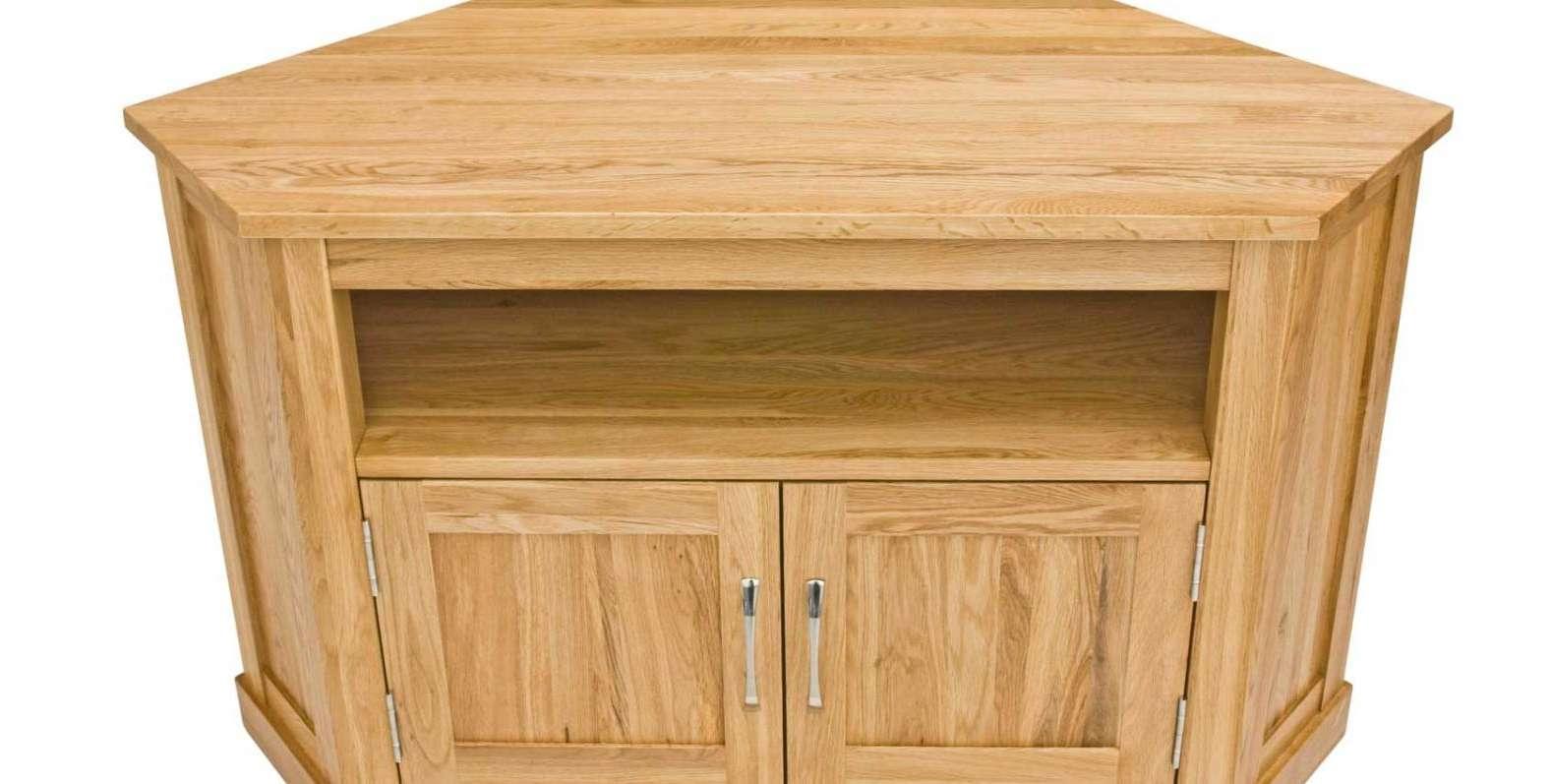 Tv : Uncommon Wood Corner Tv Stands Uk Suitable Oak Corner Tv With Regard To Oak Tv Cabinets For Flat Screens With Doors (View 19 of 20)