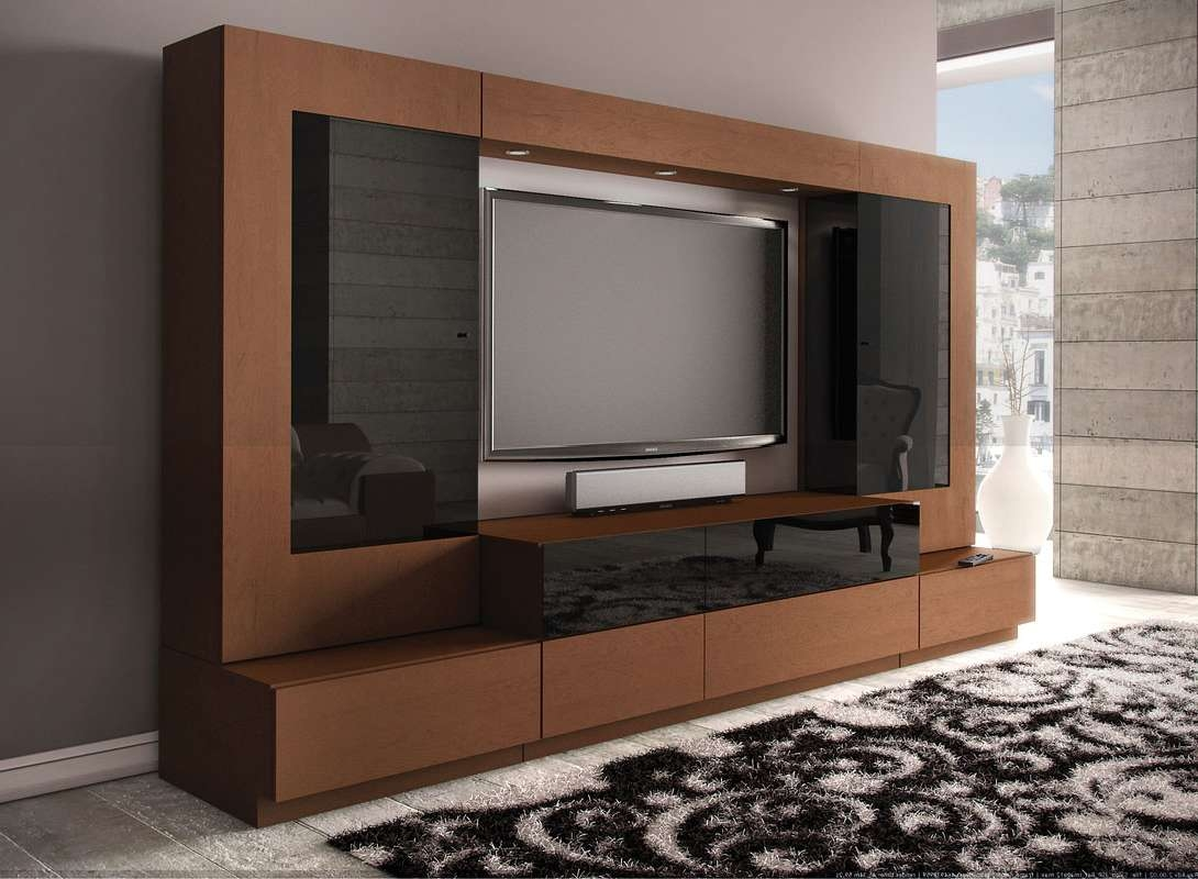 Tv Unit Designs For Living Room Latest Modern Lcd Cabinet Design Throughout Fancy Tv Cabinets (View 13 of 20)
