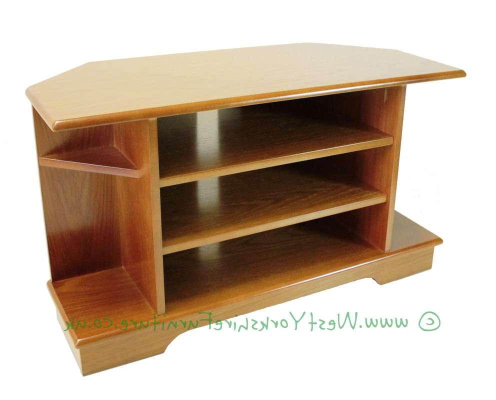 Tv & Video Cabinets And Corner Cabinets In Teak, Light Oak, Medium Regarding Mahogany Corner Tv Cabinets (View 19 of 20)