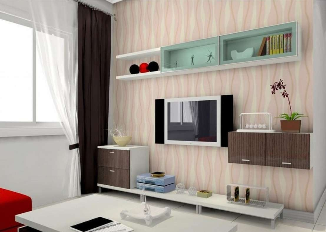Tv Wall Design With Display Cabinets | 3d House Regarding Wall Display Units And Tv Cabinets (View 2 of 20)