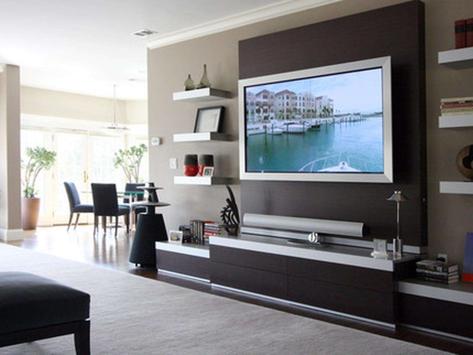 Tv Wall Mount Unit – Home Design Within Wall Mounted Tv Cabinets For Flat Screens (View 3 of 20)