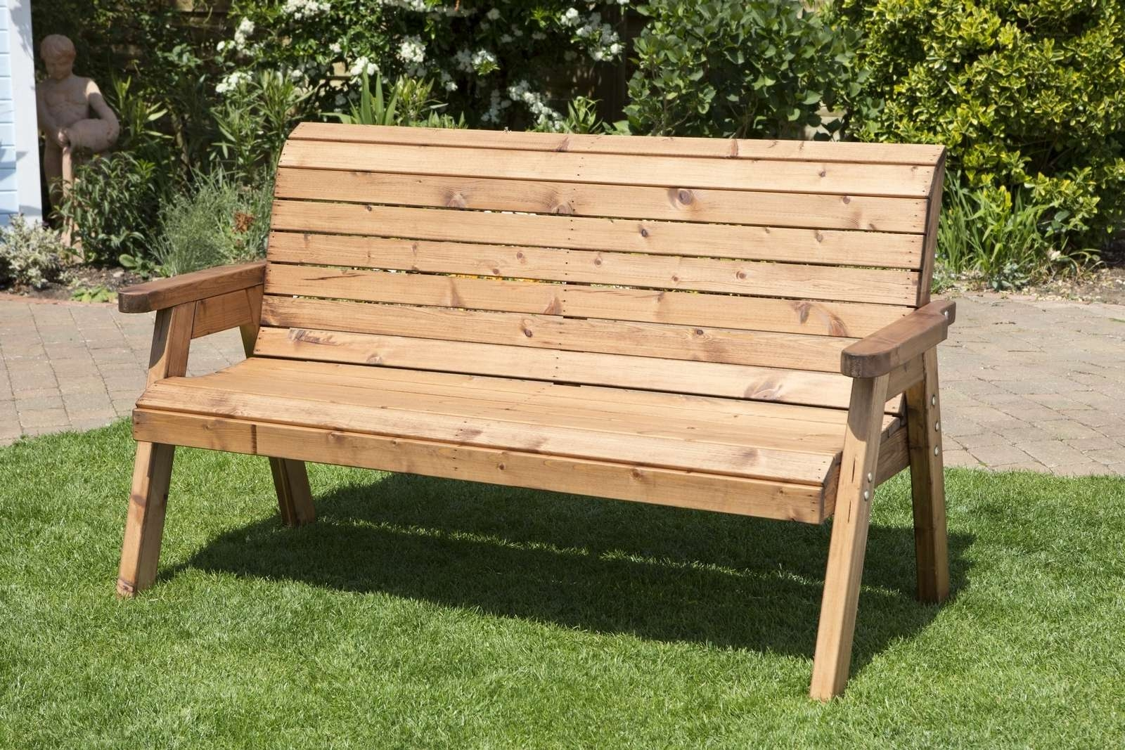 Uk Made Fully Assembled Heavy Duty Wooden Garden Companion Seat In Well Known Wooden Garden Coffee Tables (Gallery 18 of 20)