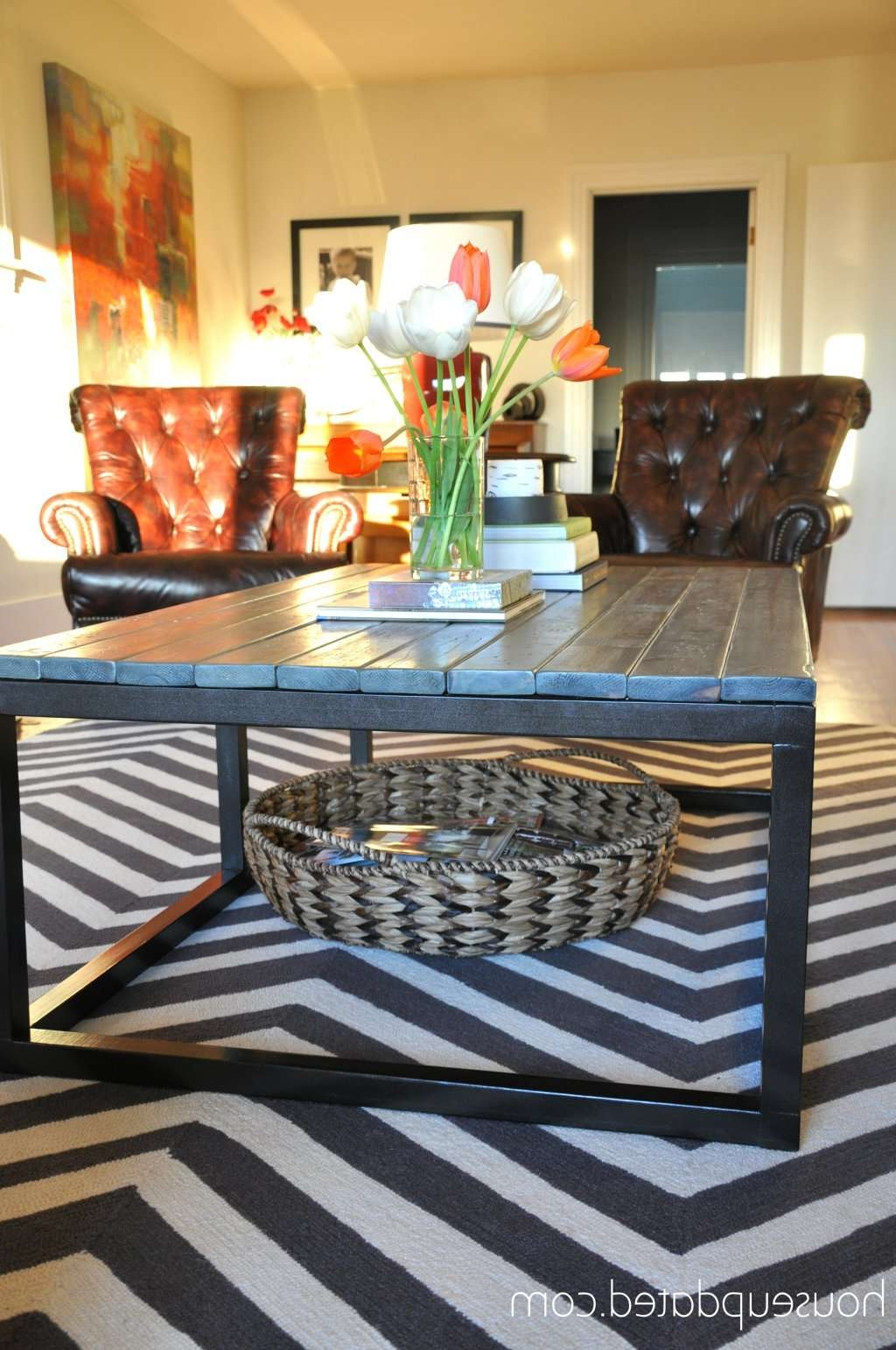 Gallery Of Coffee Tables With Basket Storage Underneath View 15