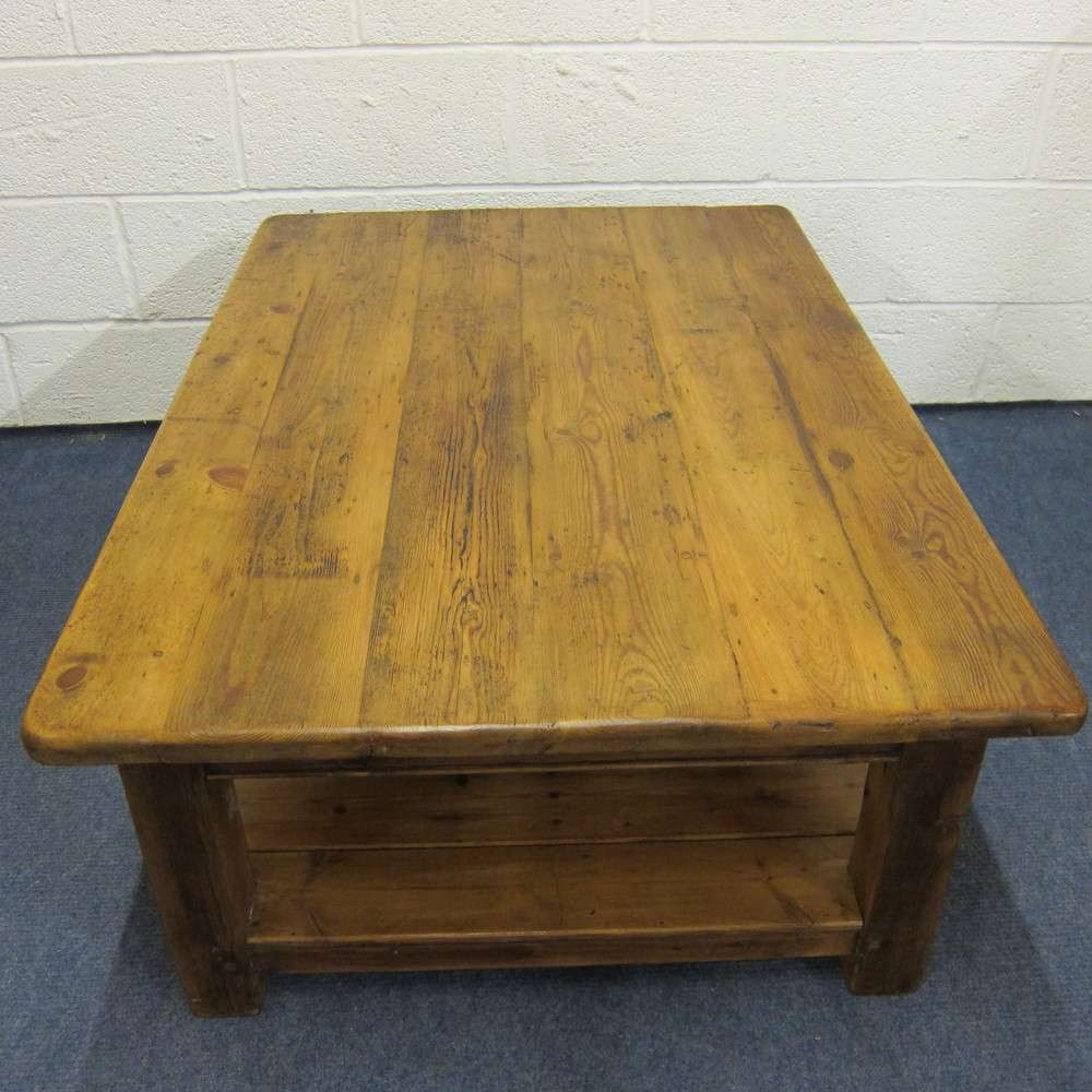 Unfinished Pine Coffee Table – The Coffee Table With Well Liked Old Pine Coffee Tables (View 11 of 20)