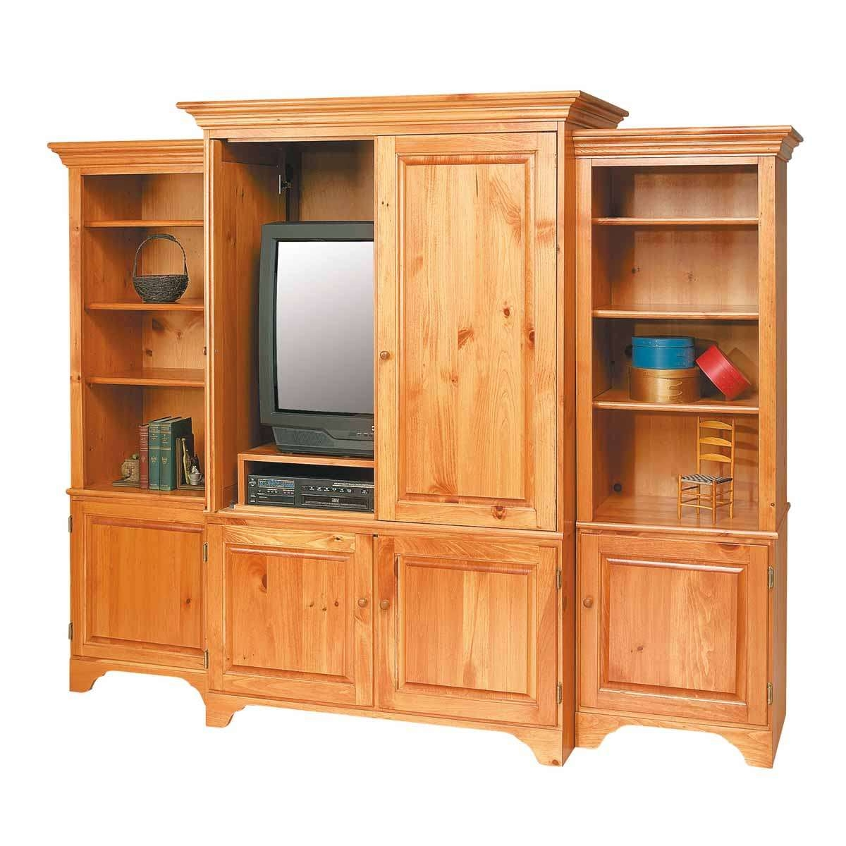 Unfinished Pine Tv Stands Entertainment Center Solid Natural Pi With Regard To Pine Tv Cabinets (Gallery 7 of 20)