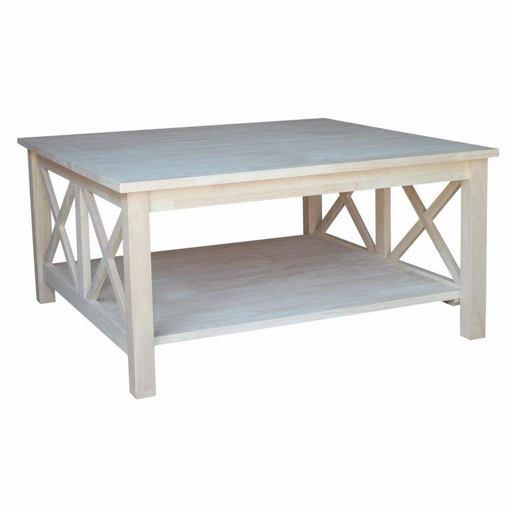 Unfinished Wood – Coffee Tables – Accent Tables – The Home Depot Pertaining To Best And Newest Square Coffee Tables (View 19 of 20)