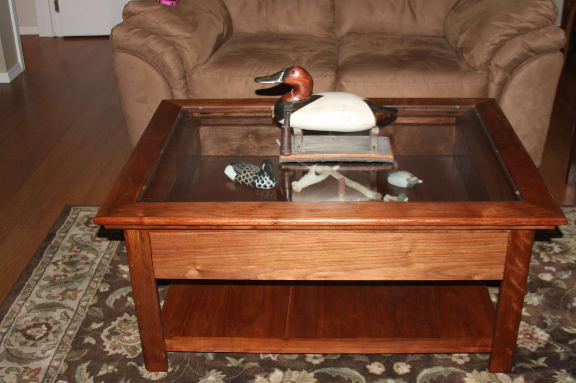 Unique And Creative Shadow Box Coffee Table — Home Design Ideas With Regard To Well Liked Coffee Tables With Glass Top Display Drawer (View 9 of 20)