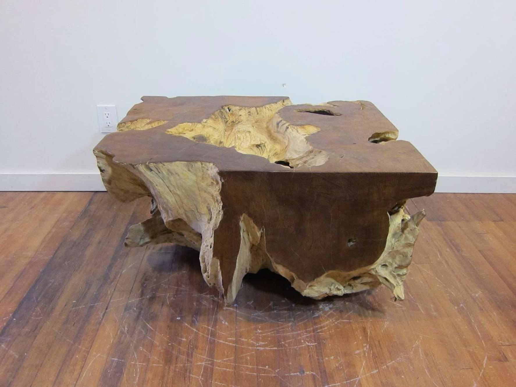 Unique Natural Wood Coffee Table – Chocoaddicts – Chocoaddicts Within Recent Natural Wood Coffee Tables (View 11 of 20)
