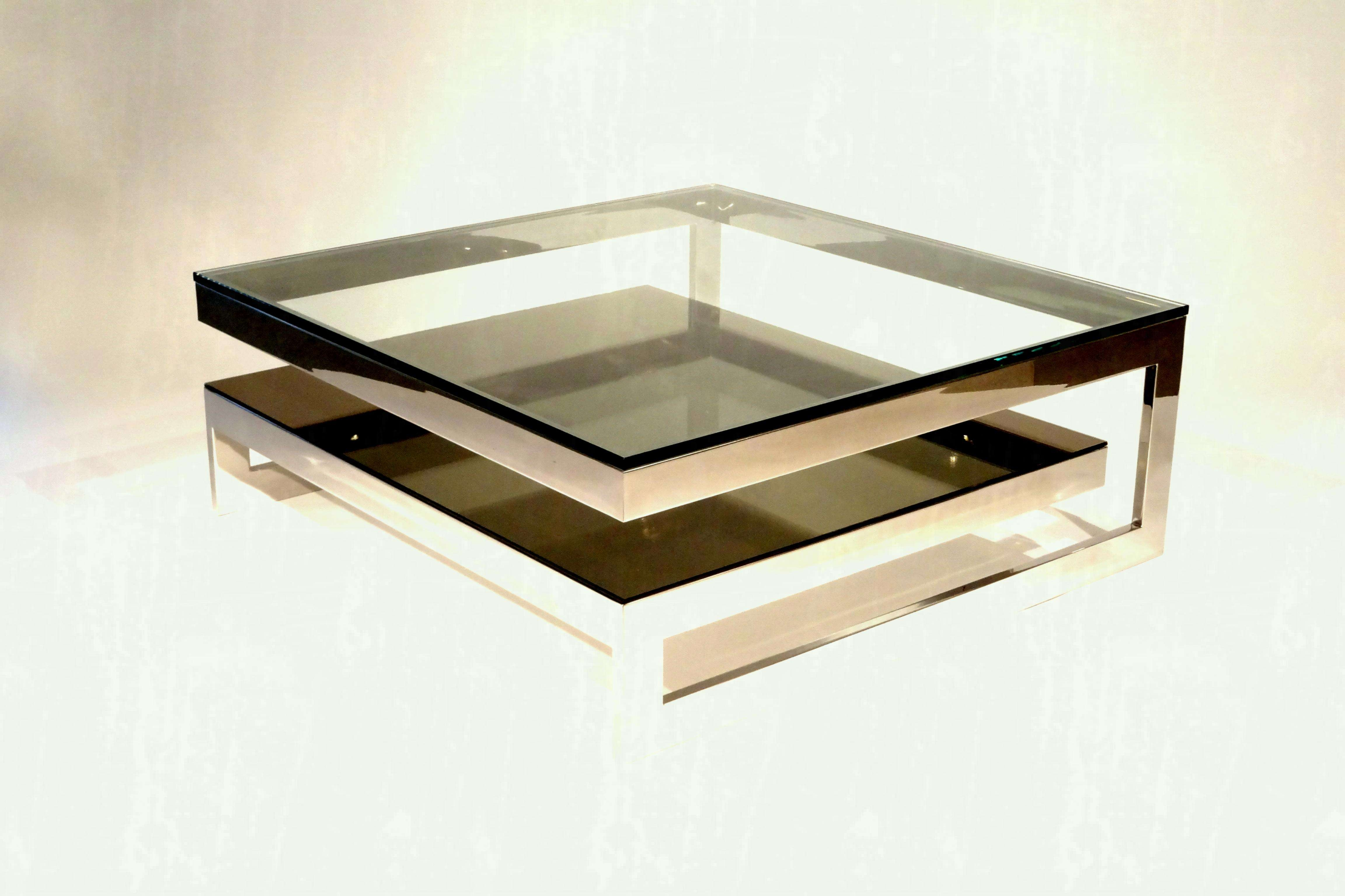 Unique Shape Stainless Steel And Tempered Glass Coffee Table Throughout 2018 Unique Glass Coffee Tables (View 13 of 20)