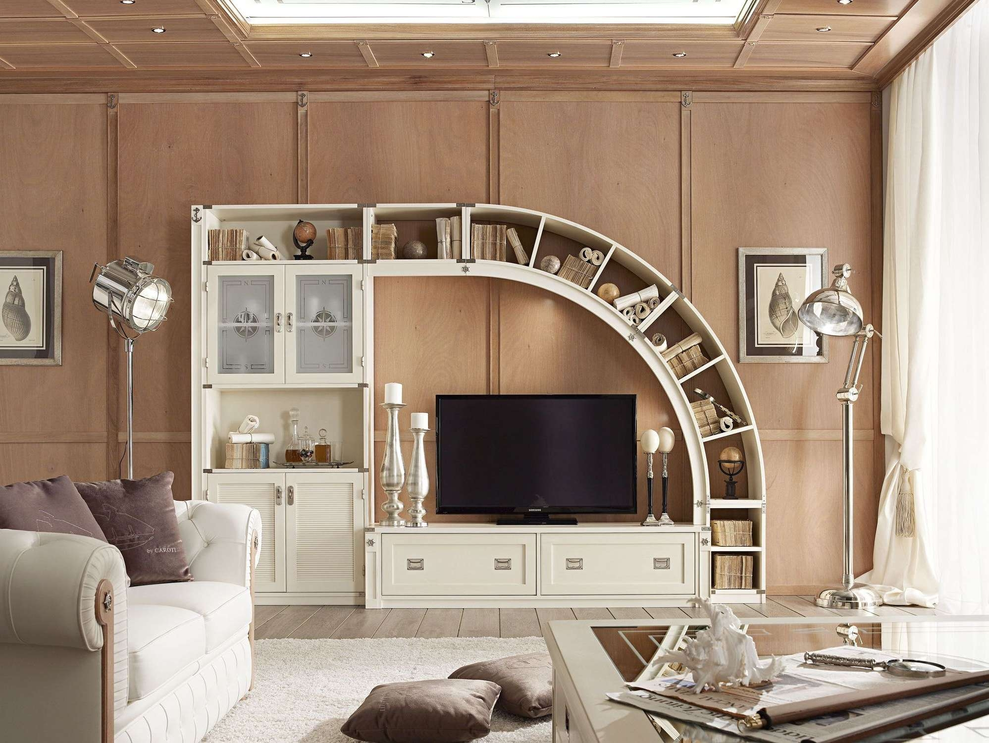 Unique Storage Fit To Unusual Tv Stands With Stand Lamp On Wooden Inside Unusual Tv Cabinets (View 20 of 20)