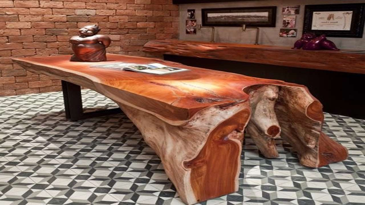 Unusual Wooden Tables Design  Interesting Furniture Ideas – Youtube Inside Current Unusual Wooden Coffee Tables (View 18 of 20)