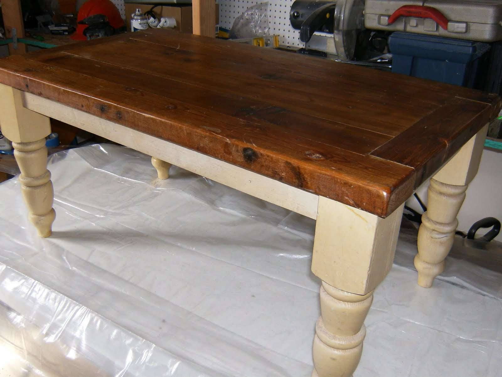 Upcycled Coffee Table Inside Current Cream And Oak Coffee Tables (View 16 of 20)