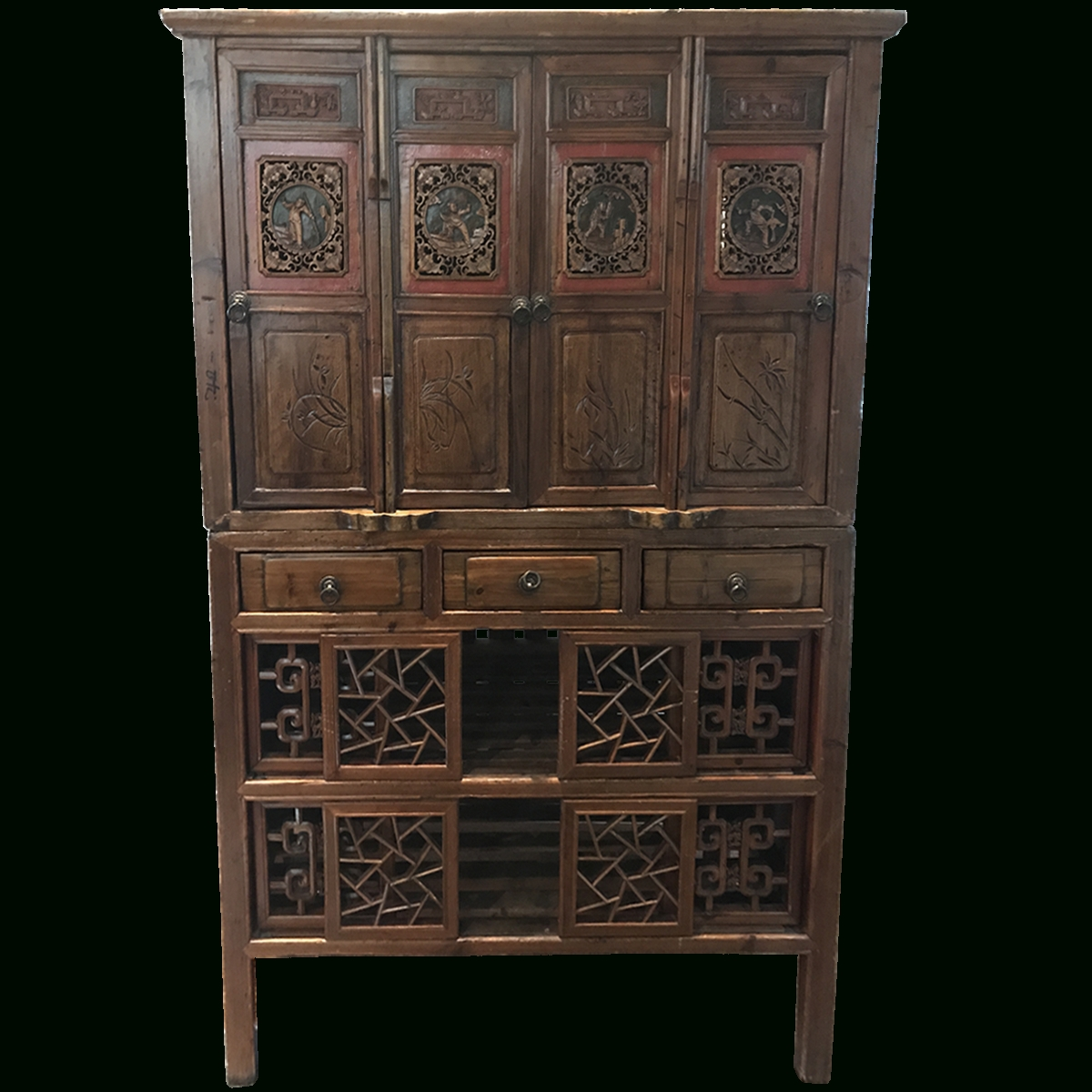 Used, Nearly New & Vintage Armoires And Cabinets | Viyet With Asian Tv Cabinets (View 12 of 20)