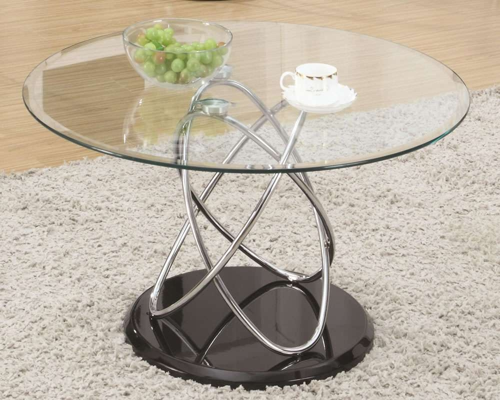 Used Round Glass Top Coffee Table — All Furniture : Round Glass Inside Famous Circular Glass Coffee Tables (View 17 of 20)